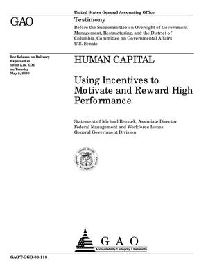 Primary view of object titled 'Human Capital: Using Incentives to Motivate and Reward High Performance'.