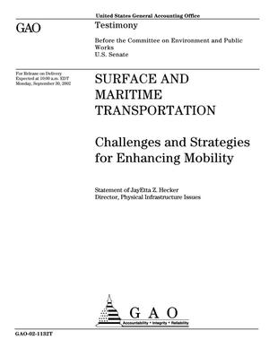Primary view of object titled 'Surface and Maritime Transportation: Challenges and Strategies for Enhancing Mobility'.