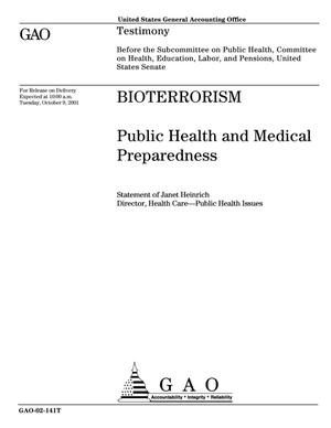 Primary view of object titled 'Bioterrorism: Public Health and Medical Preparedness'.