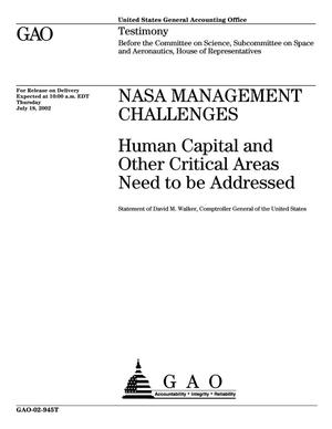 Primary view of object titled 'NASA Management Challenges: Human Capital and Other Critical Areas Need to be Addressed'.