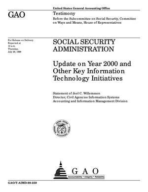 Primary view of object titled 'Social Security Administration: Update on Year 2000 and Other Key Information Technology Initiatives'.