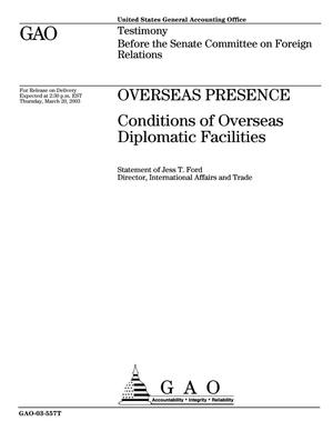 Primary view of object titled 'Overseas Presence: Conditions of Overseas Diplomatic Facilities'.