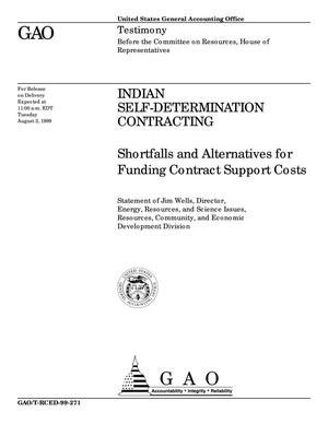 Primary view of object titled 'Indian Self-Determination Contracting: Shortfalls and Alternatives for Funding Contract Support Costs'.