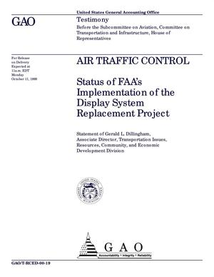 Primary view of object titled 'Air Traffic Control: Status of FAA's Implementation of the Display System Replacement Project'.