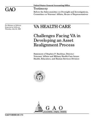 Primary view of object titled 'VA Health Care: Challenges Facing VA in Developing an Asset Realignment Process'.
