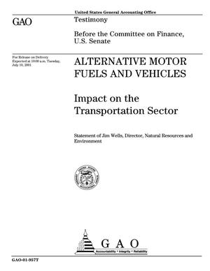 Primary view of object titled 'Alternative Motor Fuels and Vehicles: Impact on the Transportation Sector'.