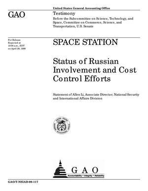 Primary view of object titled 'Space Station: Status of Russian Involvement and Cost Control Efforts'.