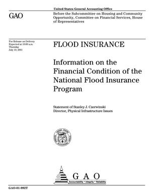 Primary view of object titled 'Flood Insurance: Information on the Financial Condition of the National Flood Insurance Program'.