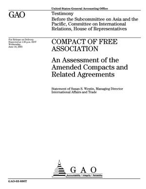Primary view of object titled 'Compact of Free Association: An Assessment of the Amended Compacts and Related Agreements'.