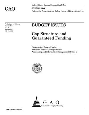 Primary view of object titled 'Budget Issues: Cap Structure and Guaranteed Funding'.