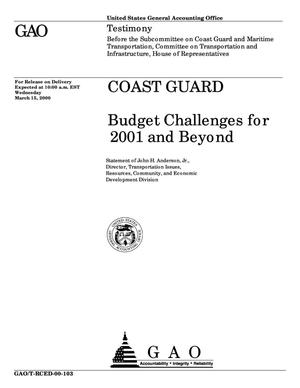 Primary view of object titled 'Coast Guard: Budget Challenges for 2001 and Beyond'.