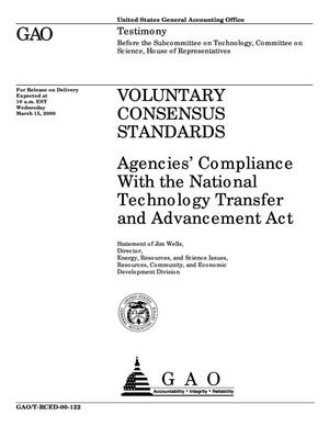 Primary view of object titled 'Voluntary Consensus Standards: Agencies' Compliance With the National Technology Transfer and Advancement Act'.