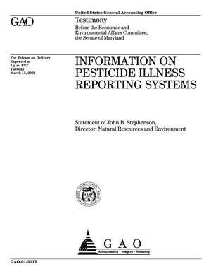 Primary view of object titled 'Information on Pesticide Illness Reporting Systems'.