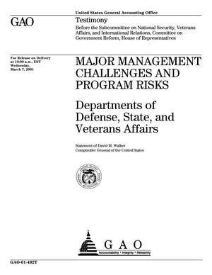 Primary view of object titled 'Major Management Challenges and Program Risks: Departments of Defense, State, and Veterans Affairs'.