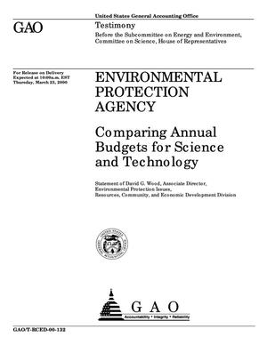 Primary view of object titled 'Environmental Protection Agency: Comparing Annual Budgets for Science and Technology'.