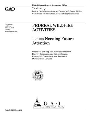 Primary view of object titled 'Federal Wildfire Activities: Issues Needing Future Attention'.