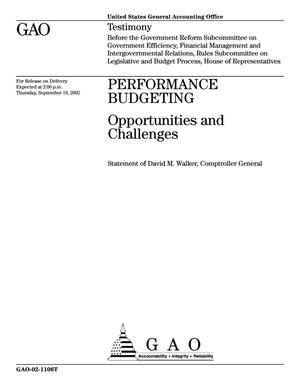 Primary view of object titled 'Performance Budgeting: Opportunities and Challenges'.