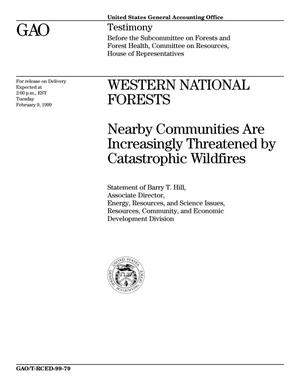 Primary view of object titled 'Western National Forests: Nearby Communities Are Increasingly Threatened By Catastrophic Wildfires'.
