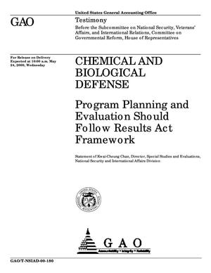 Primary view of object titled 'Chemical and Biological Defense: Program Planning and Evaluation Should Follow Results Act Framework'.
