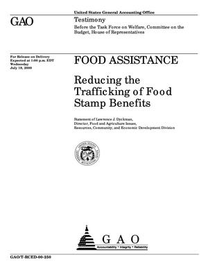 Primary view of object titled 'Food Assistance: Reducing the Trafficking of Food Stamp Benefits'.