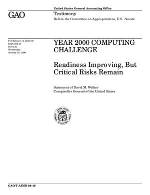 Primary view of object titled 'Year 2000 Computing Challenge: Readiness Improving, But Critical Risks Remain'.