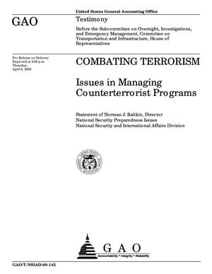 Primary view of object titled 'Combating Terrorism: Issues in Managing Counterterrorist Programs'.