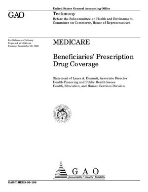 Primary view of object titled 'Medicare: Beneficiaries' Prescription Drug Coverage'.