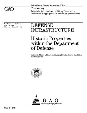 Primary view of object titled 'Defense Infrastructure: Historic Properties within the Department of Defense'.