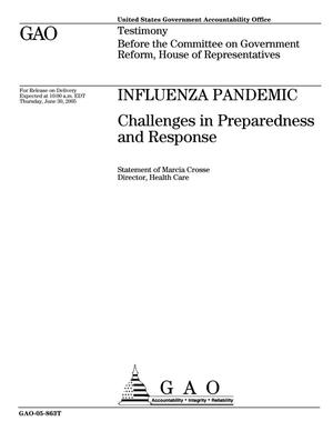Primary view of object titled 'Influenza Pandemic: Challenges in Preparedness and Response'.
