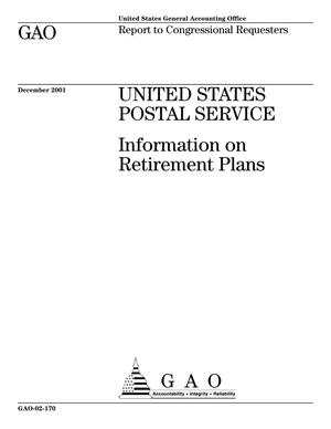 Primary view of object titled 'United States Postal Service: Information on Retirement Plans'.