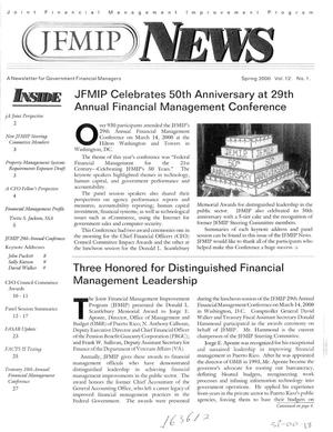 Primary view of object titled 'JFMIP News: A Newsletter for Government Financial Managers, Spring 2000, Vol. 12, No. 1'.