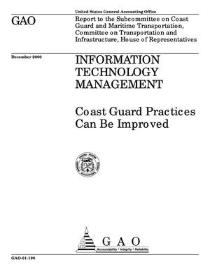 Primary view of object titled 'Information Technology Management: Coast Guard Practices Can Be Improved'.
