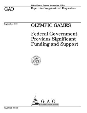 Primary view of object titled 'Olympic Games: Federal Government Provides Significant Funding and Support'.