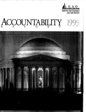 Primary view of object titled 'GAO Accountability Report, 1999'.