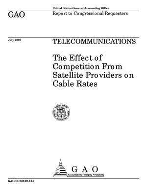 Primary view of object titled 'Telecommunications: The Effect of Competition From Satellite Providers on Cable Rates'.