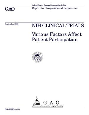 Primary view of object titled 'NIH Clinical Trials: Various Factors Affect Patient Participation'.