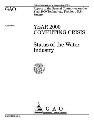 Primary view of object titled 'Year 2000 Computing Crisis: Status of the Water Industry'.