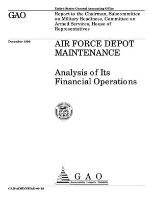 Primary view of object titled 'Air Force Depot Maintenance: Analysis of Its Financial Operations'.