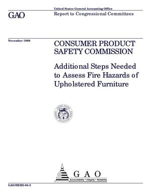 Primary view of object titled 'Consumer Product Safety Commission: Additional Steps Needed to Assess Fire Hazards of Upholstered Furniture'.