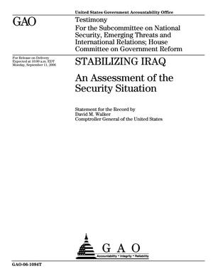 Primary view of object titled 'Stabilizing Iraq: An Assessment of the Security Situation'.