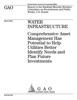 Primary view of object titled 'Water Infrastructure: Comprehensive Asset Management Has Potential to Help Utilities Better Identify Needs and Plan Future Investments'.