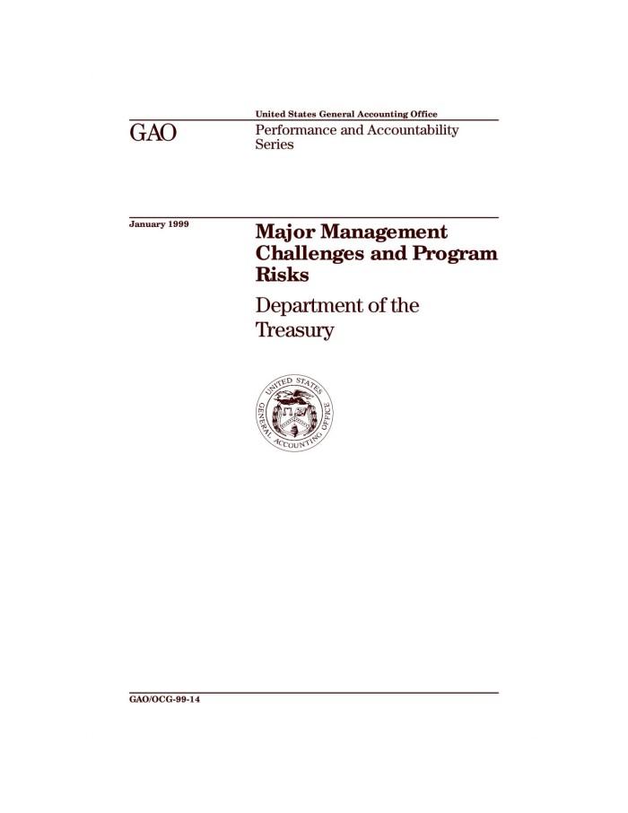 Major Management Challenges and Program Risks: Department of