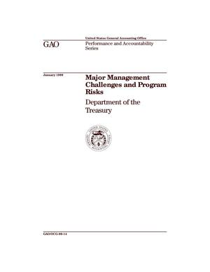 Primary view of object titled 'Major Management Challenges and Program Risks: Department of the Treasury'.