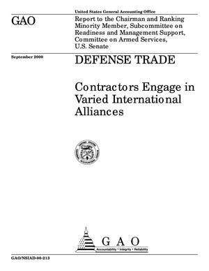 Primary view of object titled 'Defense Trade: Contractors Engage in Varied International Alliances'.