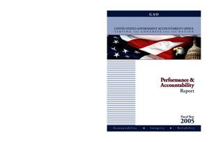 Primary view of object titled 'Fiscal Year 2005 Performance and Accountability Report'.