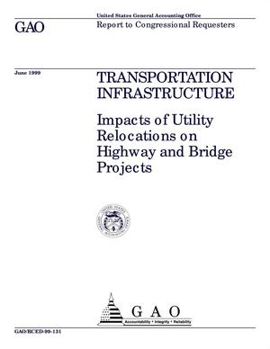 Primary view of object titled 'Transportation Infrastructure: Impacts of Utility Relocations on Highway and Bridge Projects'.