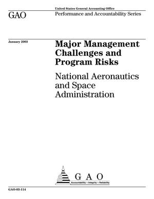 Primary view of object titled 'Major Management Challenges and Program Risks: National Aeronautics and Space Administration'.