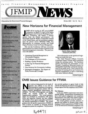 Primary view of object titled 'JFMIP News: A Newsletter for Government Financial Managers, Winter 2001, Vol. 12, No. 4'.