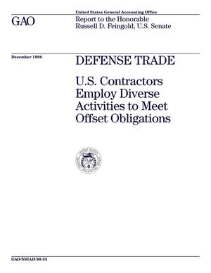 Primary view of object titled 'Defense Trade: U.S. Contractors Employ Diverse Activities To Meet Offset Obligations'.