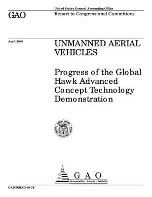 Primary view of object titled 'Unmanned Aerial Vehicles: Progress of the Global Hawk Advanced Concept Technology Demonstration'.